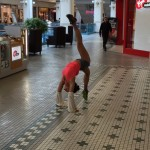 Yoga everywhere don't care: at the bay shopping centre
