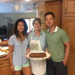 Susan, our amazing host and her banana bread!!!